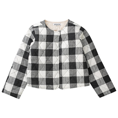 Minouche Quilted Jacket Holly Black/White Check +