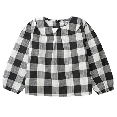 Minouche Smock Top Magnolia Black & White Check *