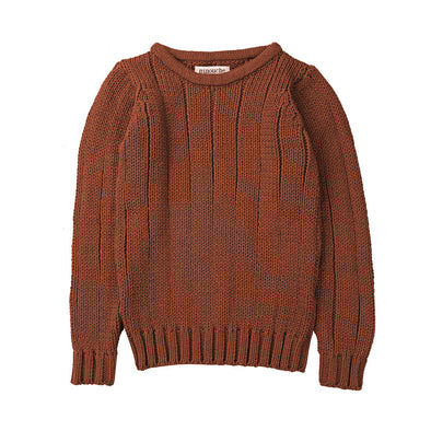 Minouche Rib Sweater Terracotta Brown *
