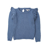 Minouche Sweater Flutter Sleeve Blue *