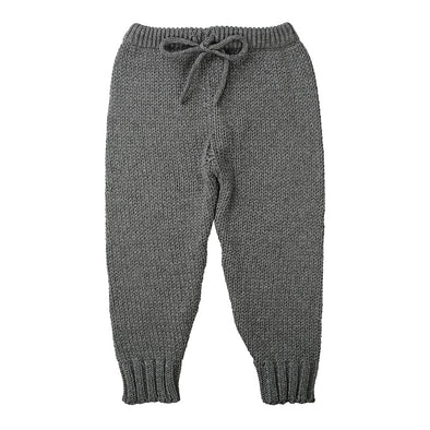 Minouche Knit Leggings Charcoal *