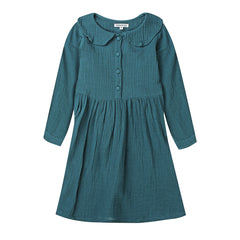 Minouche Dress Adelaide Button Front Teal *