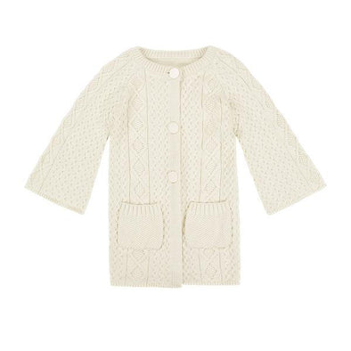 Minouche Long Knit Cardigan Lucie Winter White *