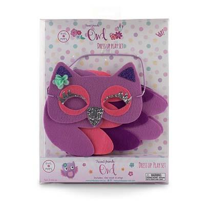 Pink Poppy Cute Owl Mask & Wings Set