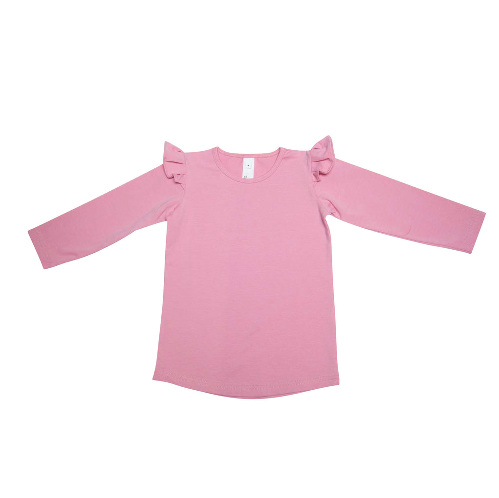 He And Her Long Sleeve Frill Tee Peony