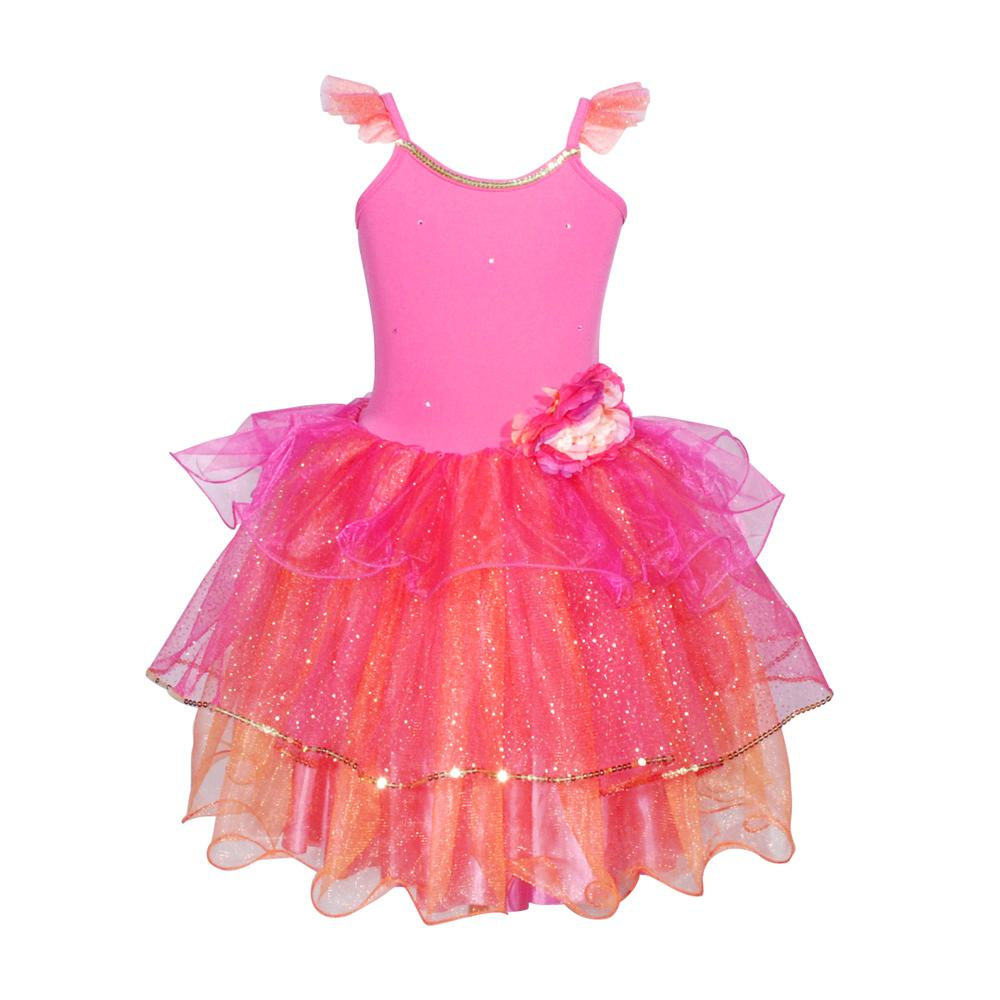 Pink Poppy Peony Flower Fairy Dress