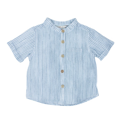 Fox & Finch Baby Jungle Stripe Shirt Navy ^