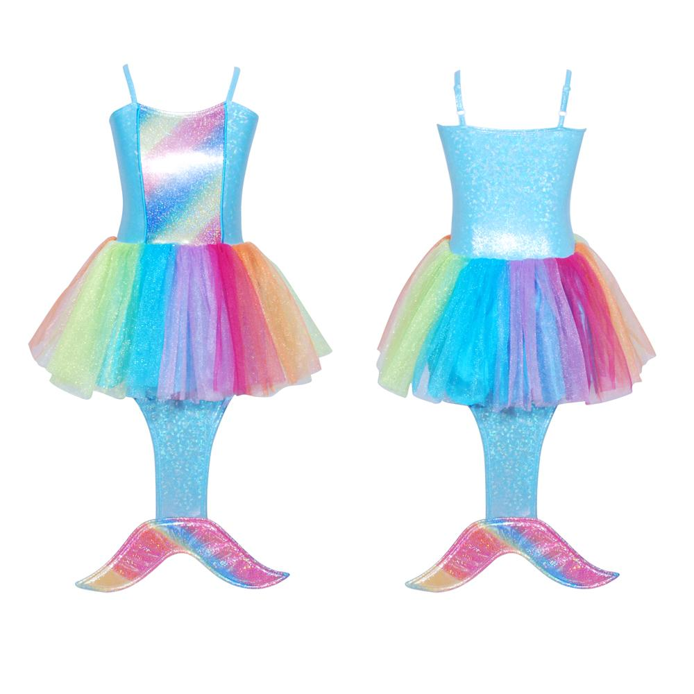 Pink Poppy Mermaid Dress Rainbow