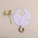 Bibalicious Bib with Teether Pink Stripe #