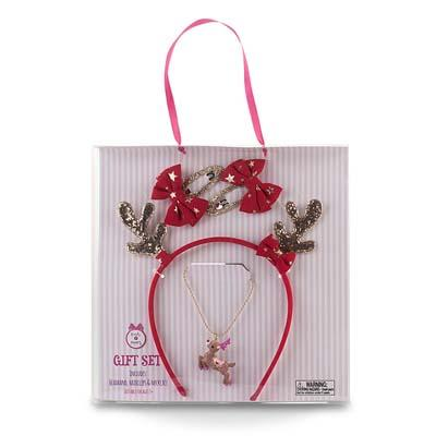 Pink Poppy Reindeer Accessory Set Red