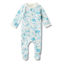 Wilson & Frenchy Boys Wild Woods Zip Suit with Feet *#