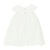 Bebe S/S Pleated Dress Ivory
