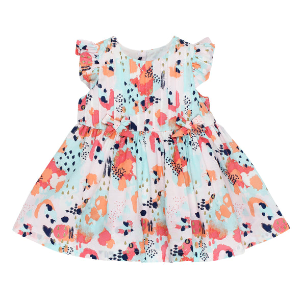 Bebe Kitty Abstract Print Dress