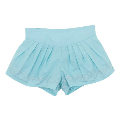 Bebe Baby Kitty Cutwork Short Aqua