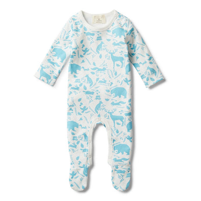 Wilson & Frenchy Boys Wild Woods Growsuit with Feet +