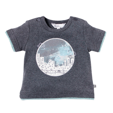 Bebe Hank Night Sky Tee Dark Grey +
