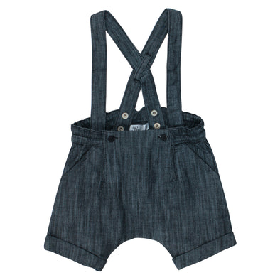 Bebe Hank Denim Short Overalls Black Denim ^