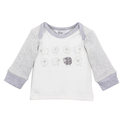 Bebe Leo Flock of Sheep Long Sleeve Tee