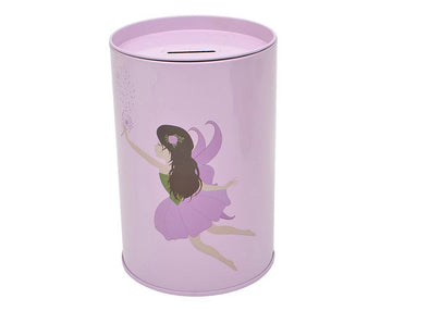 Bobble Art Tin Moneybox Fairy