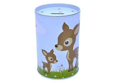 Bobble Art Tin Moneybox Woodland Animals