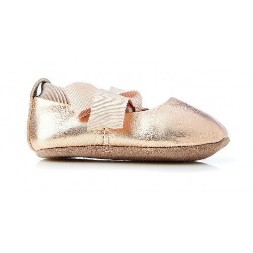 Walnut Baby Bonnie Leather Ballet Rose Gold