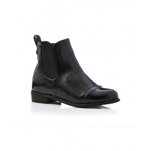 Walnut Chelsea Boot Crackle Black#