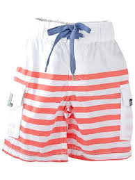 E3M Boardies White/Mandarin Stripe +