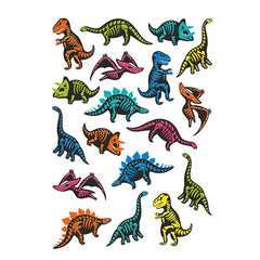 Ducky Street Temporary Tattoos Dino Skeleton