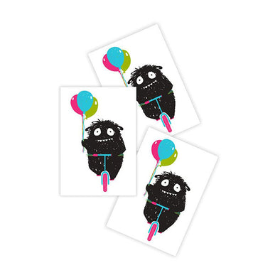 Ducky Street Temporary Tattoo Monster With Balloons