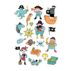 Ducky Street Temporary Tattoos Pirates