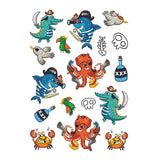Ducky Street Temporary Tattoos Sea Pirates