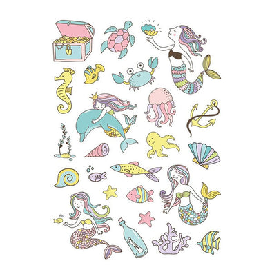Ducky Street Temporary Tattoo Under The Sea