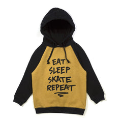 Alphabet Soup Hoodie Repeat Mustard/Black