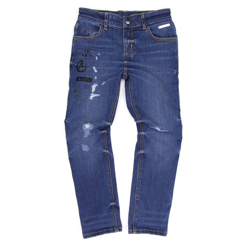 Sudo Icon Jean Ripped Blue