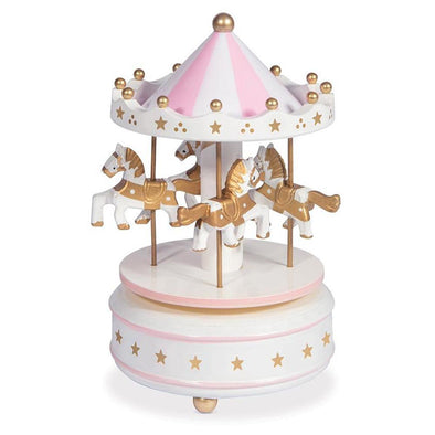 IS Gift Classic Musical Carousel Pink