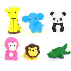 Erasables Eraser Set Large - Jungle Animals