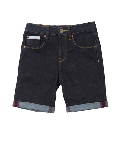 Alphabet Soup Short Midnight Raw Denim ^