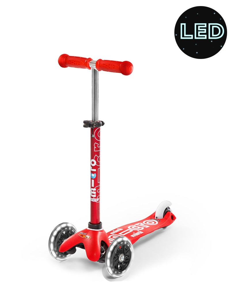 Micro Scooter Mini Deluxe LED Red