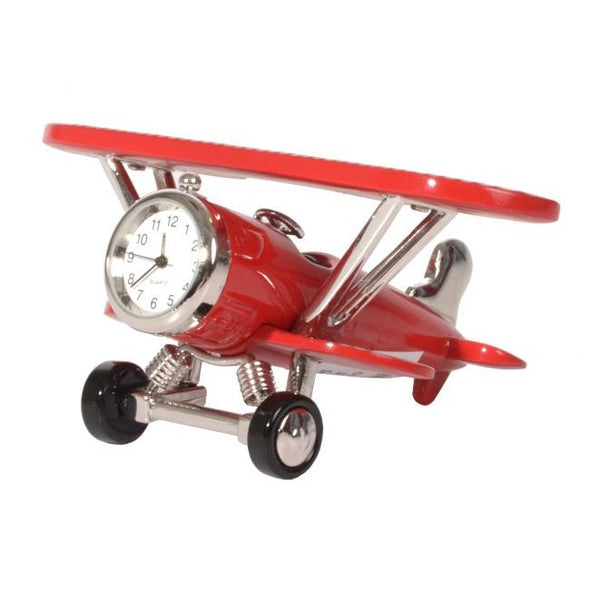 Gibson Mini Clock Red Aeroplane