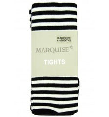 Marquise Knitted Tights Black/White Stripe #