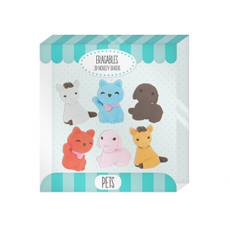 Erasables Eraser Set Large - Pets
