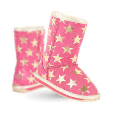Emu Starry Night Slippers Hot Pink *