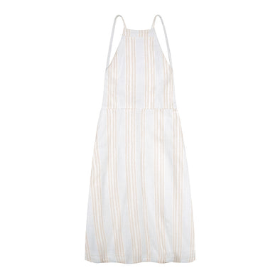 Minouche Stevie Halter Dress Striped Cotton ^