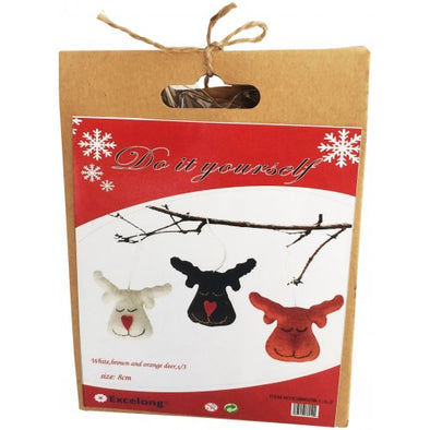 Urban Products DIY Happy Reindeer Trio Felt Kit