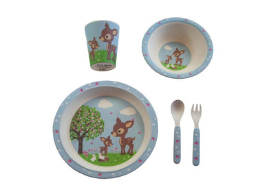 Bobble Art Bamboo Tableware Woodland Animals