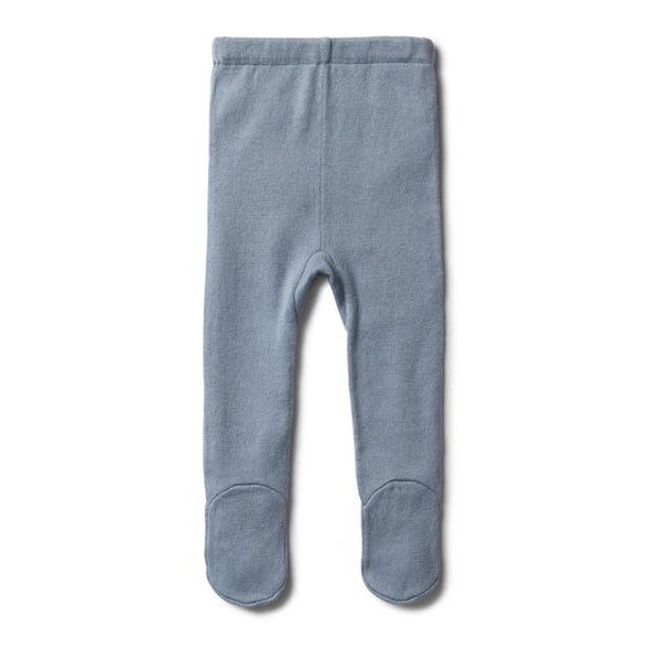 Wilson & Frenchy Dusty Blue Knitted Legging with Feet*#