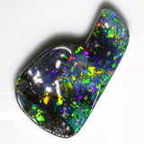 Very bright Green, Orange Multi coloured Solid Boulder Opal