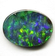 Green Blue oval Boulder Opal
