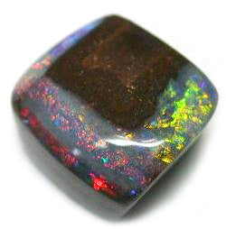 Unusual Square Multi Coloured Opal