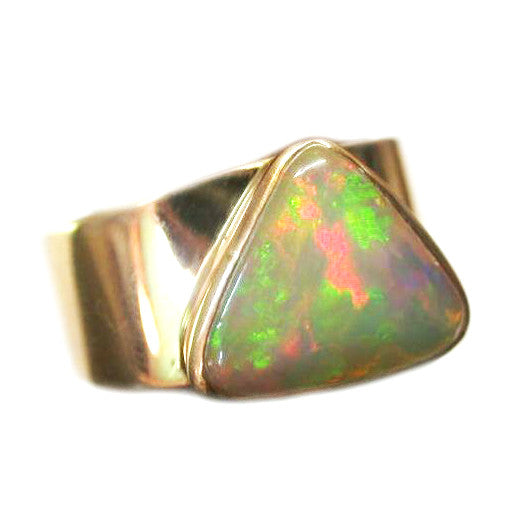 Bright Crystal Opal Ring